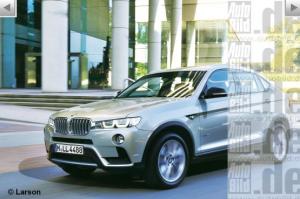 primo rendering per la BMW X4