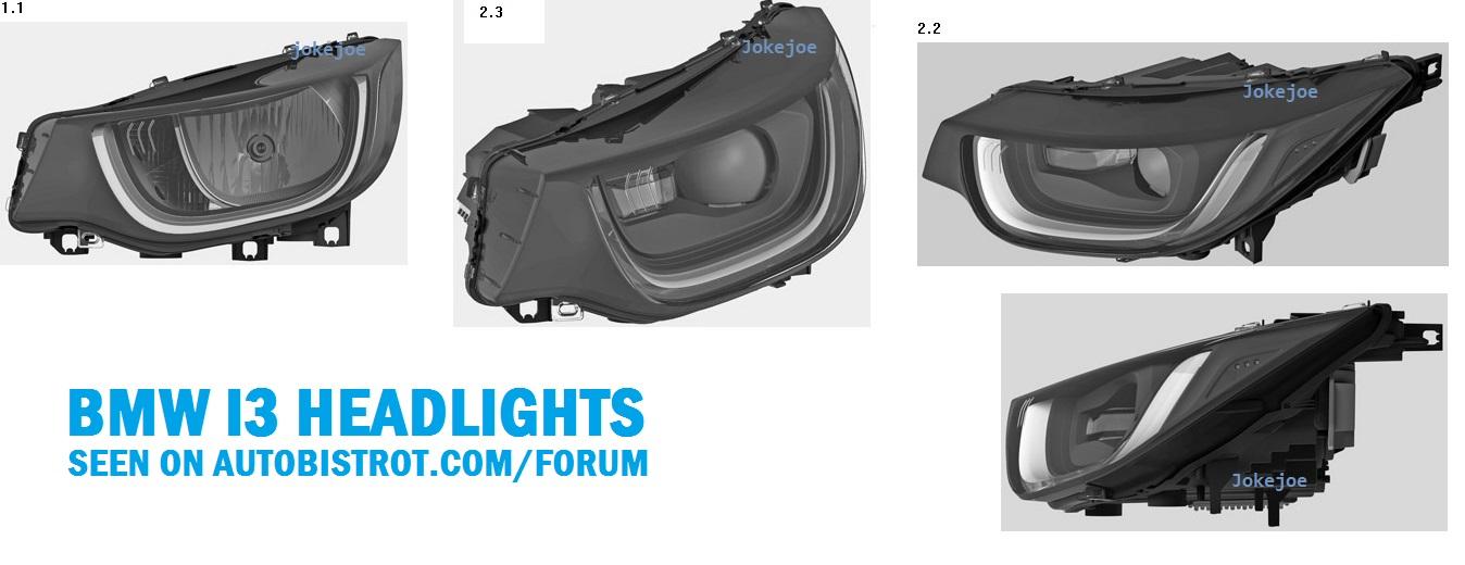 BMW i3 frontlights