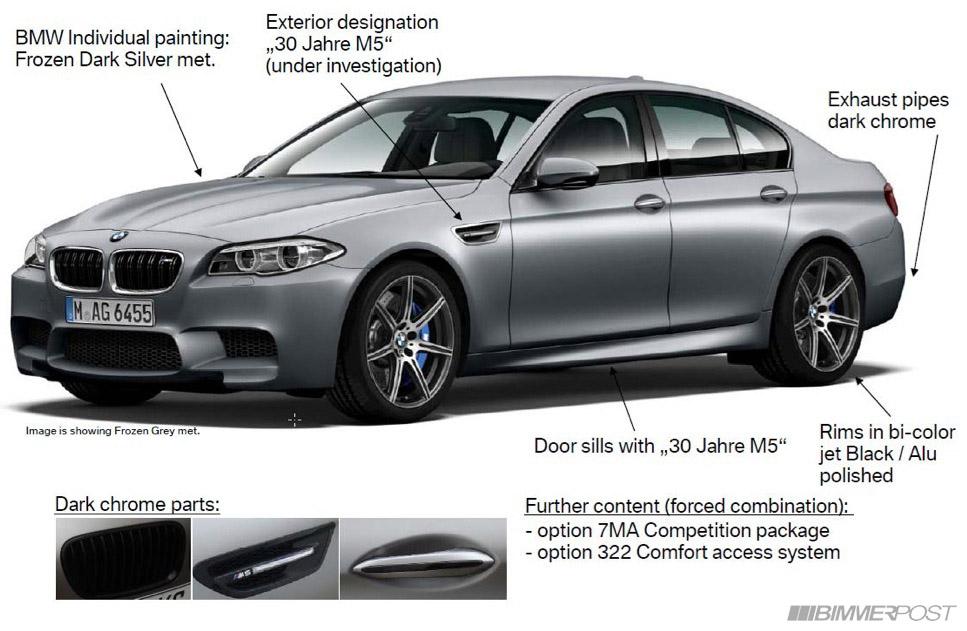 BMW M5 30th Anniversary Edition