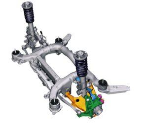 BMW Serie 5 F10 - Sospensione posteriore H-Arm - Multilink a 3 bracci + H