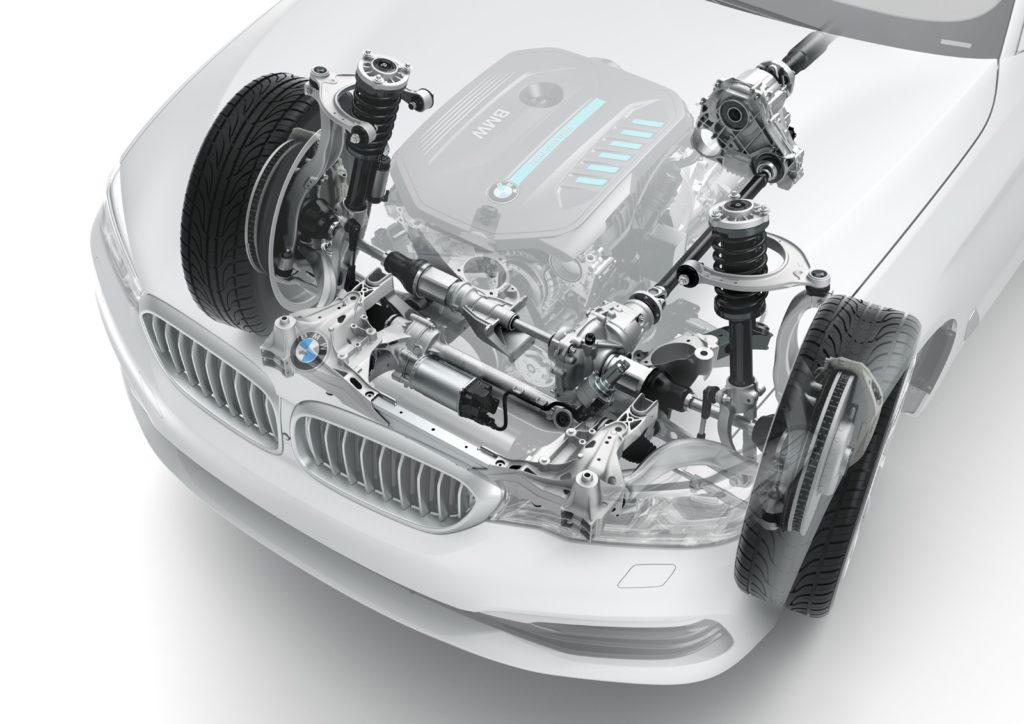 BMW Serie 5 G30 - Sospensione anteriore a quadrilatero alto