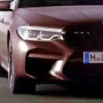 BMW M5 F90 Spy Frozen Burgundy Red