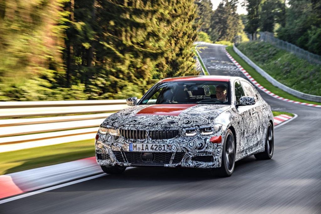 BMW Serie 3 G20 2019 Prototype Nurburgring Test Spy