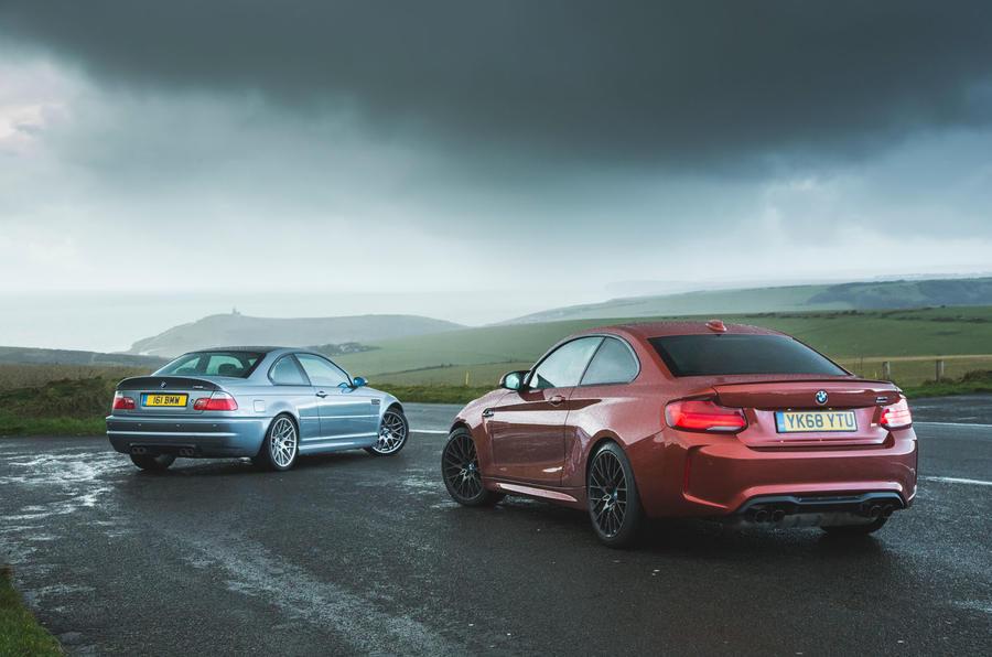 BMW M3 CSL E46 vs BMW M2 Competition F87 2019 (13)