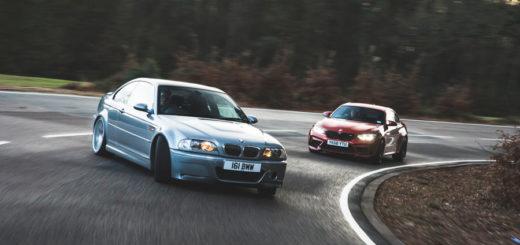 BMW M3 CSL E46 vs BMW M2 Competition F87 2019 (14)