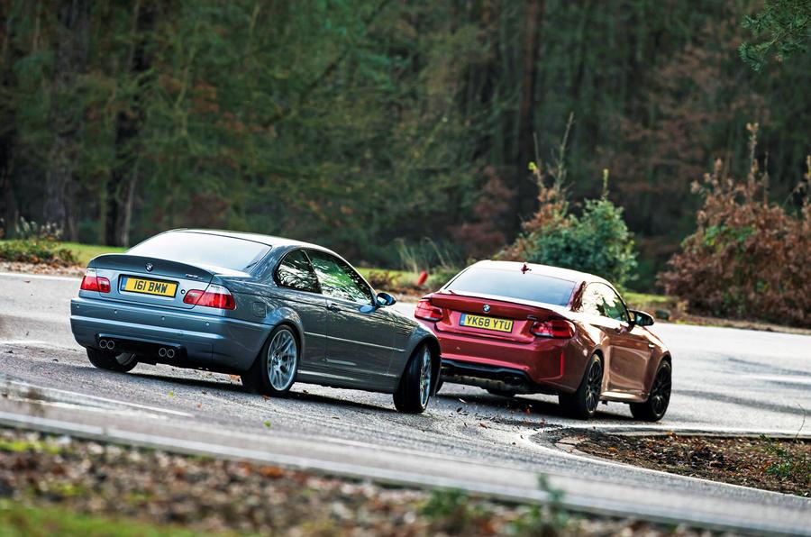 BMW M3 CSL E46 vs BMW M2 Competition F87 2019 (2)