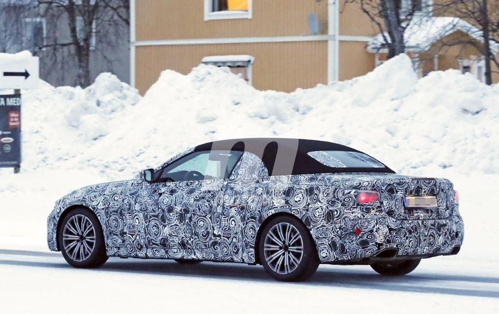BMW Serie 4 Cabrio Spy 2020 G22 - BMW M440i xDrive Cabrio (3)