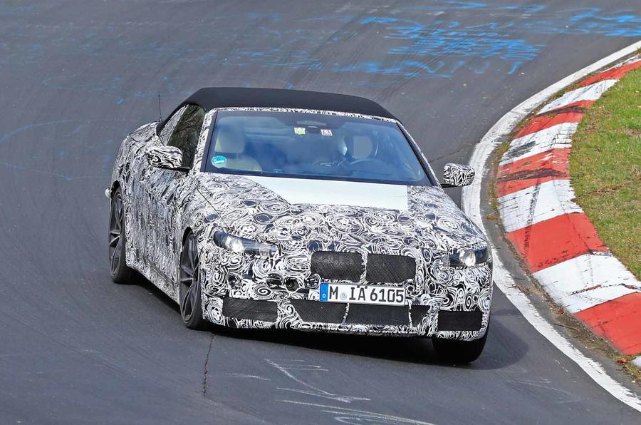 BMW Serie 4 Cabrio 2020 G22 Spy Nurburgring (1)