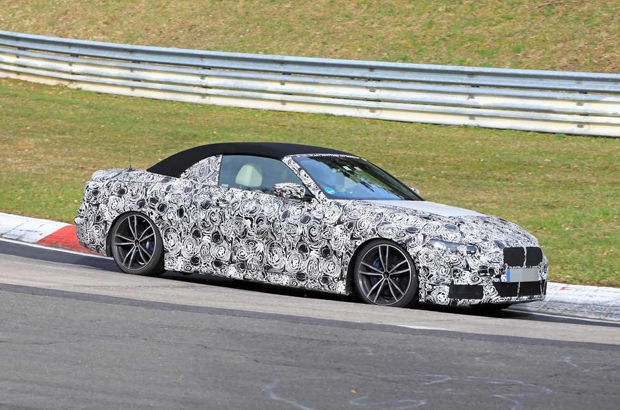 BMW Serie 4 Cabrio 2020 G22 Spy Nurburgring (2)