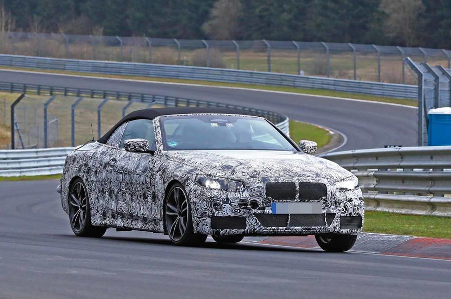 BMW Serie 4 Cabrio 2020 G22 Spy Nurburgring (3)