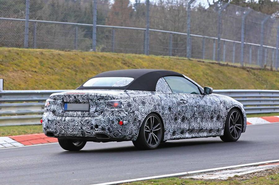 BMW Serie 4 Cabrio 2020 G22 Spy Nurburgring (6)
