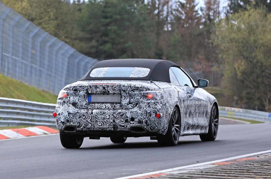 BMW Serie 4 Cabrio 2020 G22 Spy Nurburgring (9)