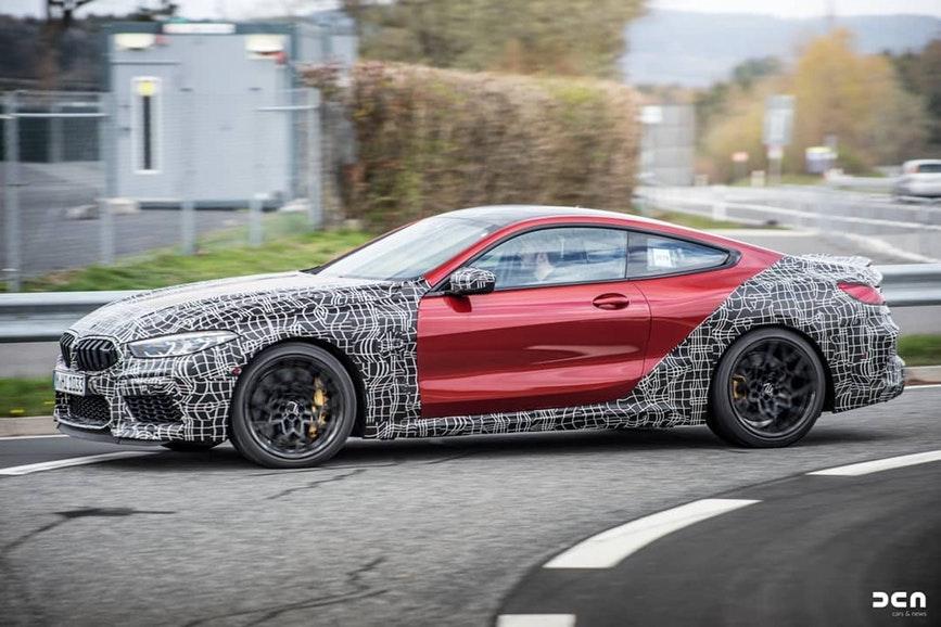 BMW M8 Coupe' Spy 2019 F92 (1)