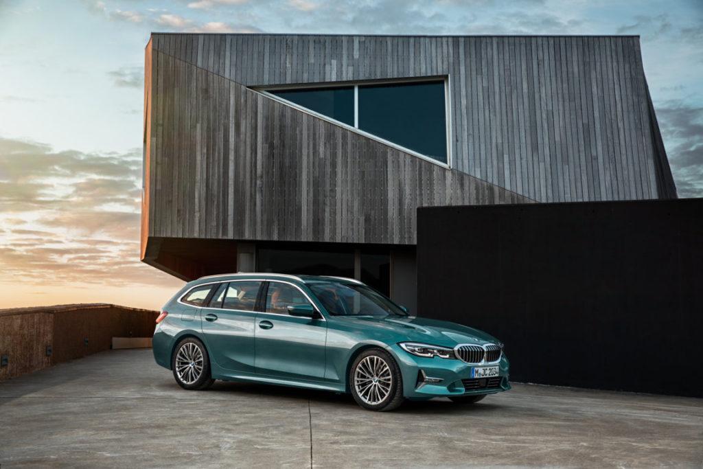 BMW Serie 3 Touring 2019 - Luxury Line - Blue Ridge Mountain Metallic - BMW Rims Styling 781 bicolor - G21 (2)