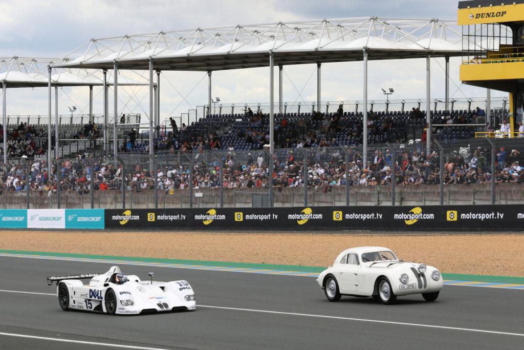 Le-Mans-FRA-15th-June-2019-BMW-M-Motorsport-FIA-World-Endurance-Championship-WEC-24-Hours-of-Le-Mans-BMW-328-touring-coupe-and-BMW-V12-LMR-5