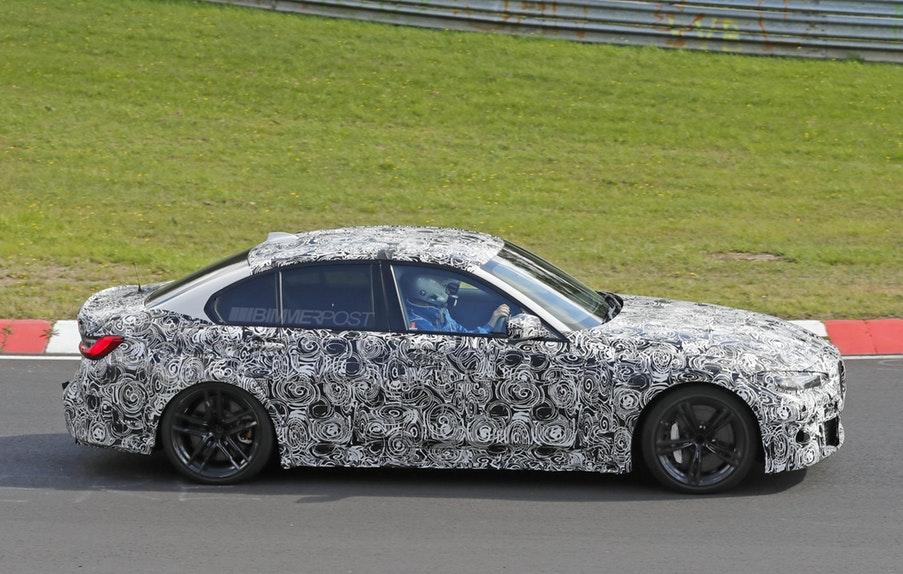 BMW M3 G80 2020 Spy - Open Grille