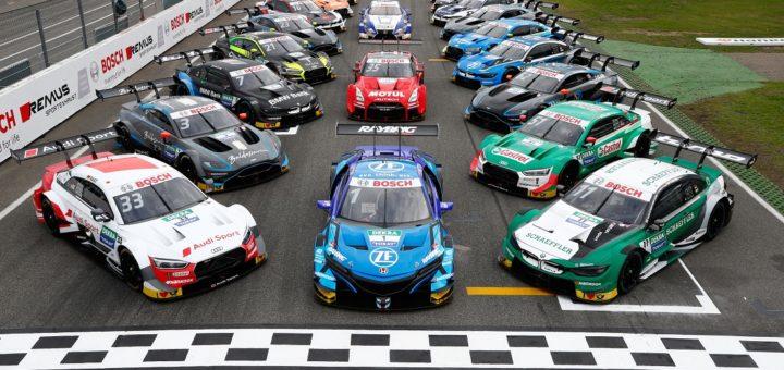 Hockenheim (GER), 3rd October 2019. BMW M Motorsport, DTM Rounds 17 & 18, Group picture SUPER GT meets DTM.