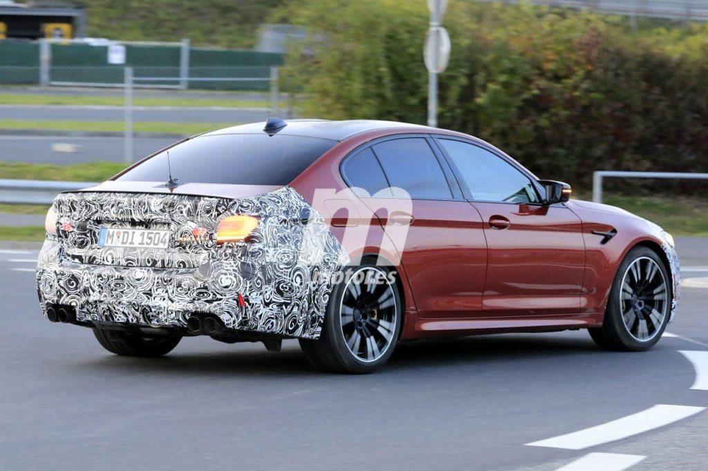 BMW M5 Facelift LCI 2021 Spy 'Ring