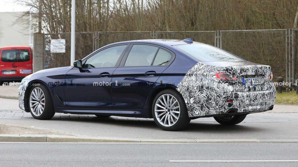 BMW Serie 5 LCI 2021 Spy